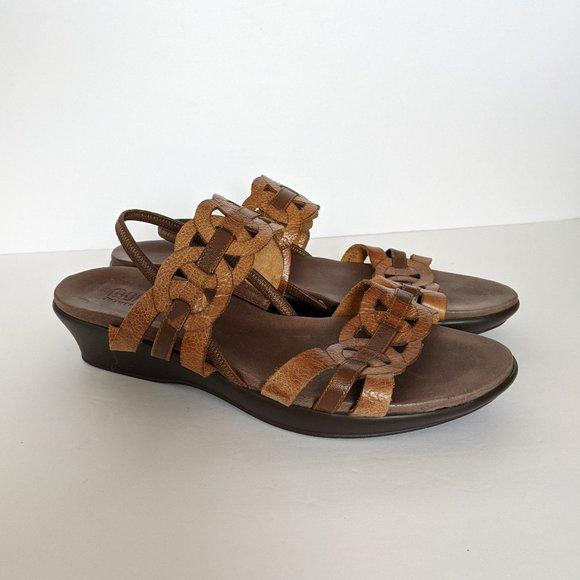 Munro Americana Boho Leather Comfort Sandals 10.5